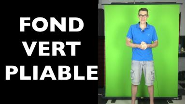 Un fond vert pliable pour vos vidéos sur Youtube vraiment pratique